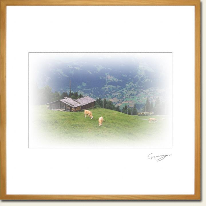 牛と山小屋と登山鉄道