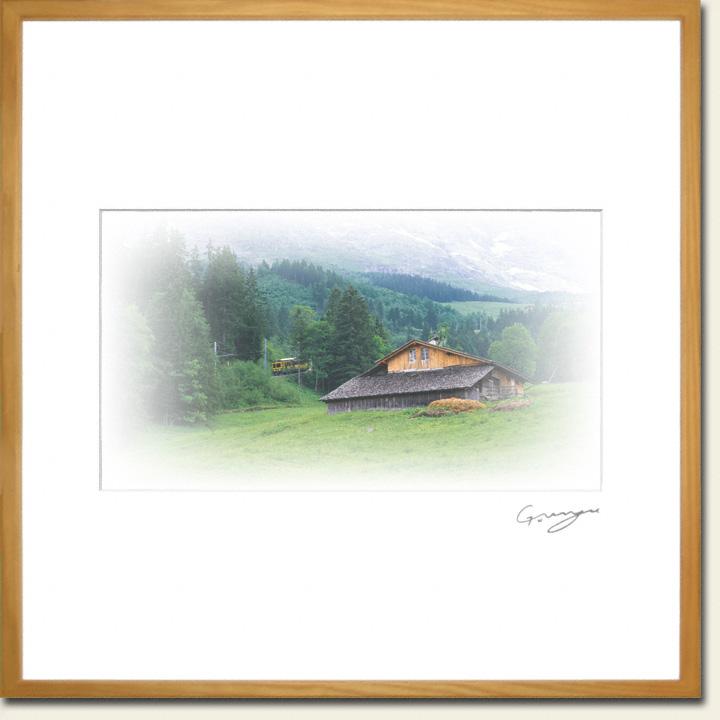 アイガー山麓の山小屋と登山鉄道