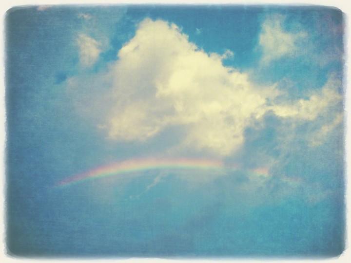 虹と入道雲